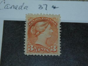 CANADA SCOTT# 37 MINT HINGED, NICE CENTERING & COLOR
