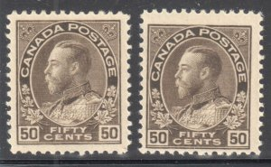 Canada VF NH  #120-120a, i, ii (All Stamps in perfect condition) ADMIRAL C$3500