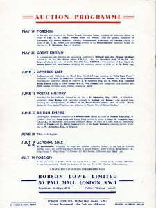 1954 Robson Lowe GB Stamp Auction Catalogue inc Photo Plates & Prices Realised