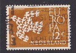 Netherlands  #387  used   1961    Europa  12c