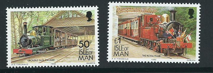 Isle of Man MUH SG 379 - 380   1992 High Values to 1998 R...