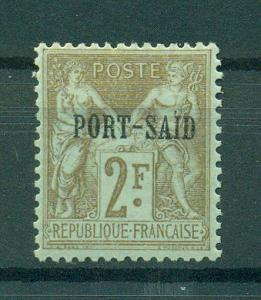 French Offices in Egypt Port Said sc# 14 mhr cat val $80.00