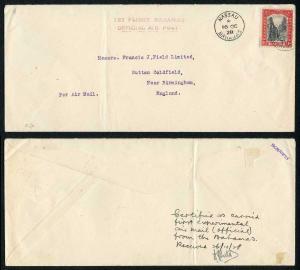Bahamas 16 Oct 1928 1st Flight Bahamas Official Air Post (certified on reverse)