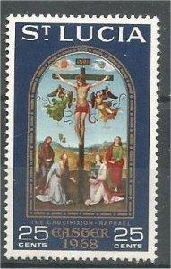 ST. LUCIA, 1968, MH 25c, Easter, Scott 233