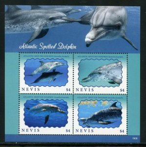 NEVIS 2019 ATLANTIC SPOTTED DOLPHIN SHEET MINT NEVER HINGED