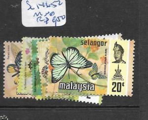 MALAYA SELANGOR  (P0907B)  BUTTERFLY  SG 146-152    MNH