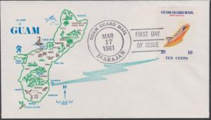 Guam Guard Local Post FDC Space Shuttle Mar 17 1981