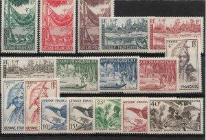 French Guiana 1947, Scenes ,Birds, Scott # 192-208,VF MNH** (FR-1)