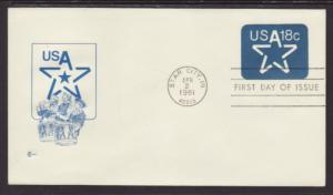 US U593 Star Cover Craft U/A FDC