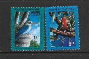 BIRDS - FRENCH POLYNESIA #564-5  MNH