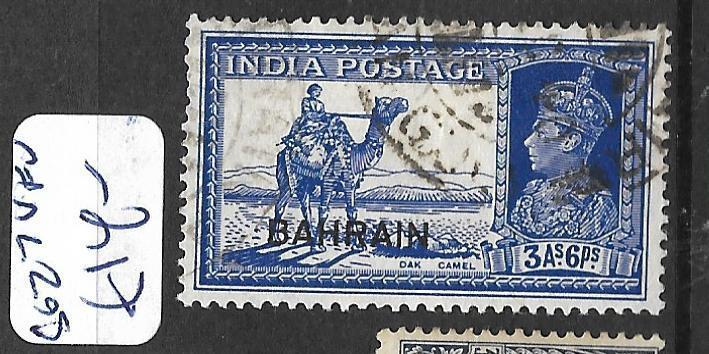 BAHRAIN (P0902B) KGVI ON INDIA  3A 6P CAMEL SG 27   VFU