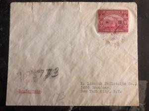 1930 San Pedro Sula Honduras airmail cover to New York USA