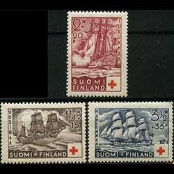 FINLAND 1937 - Scott# B24-6 Ships-Battle Set of 3 NH