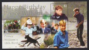 Fiji Prince William 18th Birthday MS SG#MS1101 SC#893