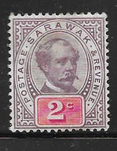 Sarawak 9: 2c Sir Charles Johnson Brooke, MH, F-VF
