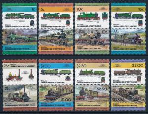 [63471] Bequia St. Vincent 1984 Railway Train Eisenbahn Chemin de Fer  MNH