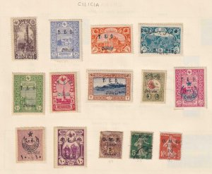 CILICIA  INTERESTING COLLECTION REMOVED FROM ALBUM PAGES - Y918