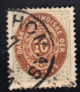 DANISH WEST INDIES # 10 - very fine used - 1876