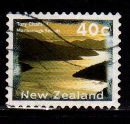 New Zealand  #1359F Tory Channel Perf 10  - Used