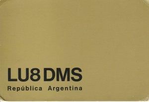 8592 Amateur Radio QSL Card  REPUBLICA ARGENTINA
