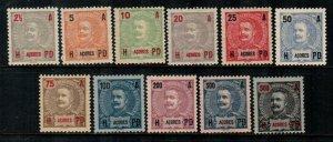 Azores #101-111  Mint  Scott $38.85