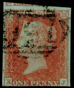 SG8, 1d red-brown PLATE 122, USED. Cat £35.