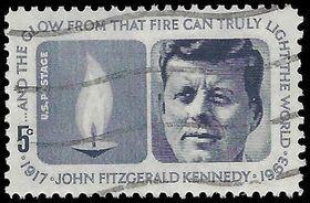 #1246 5c John F. Kennedy Memorial 1964 Used