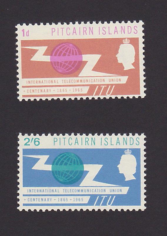 Pitcairn Islands 52 - 53 VF MLH Set of 2 ITU Issue