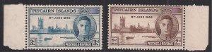 Pitcairn Islands 1946 KGV1 Set of Victory Umm SG 9 – 10 ( J899 )