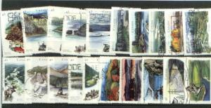 CANADIAN 4 SETS OF RIVERS  (20) USED STAMPS  LOT#18
