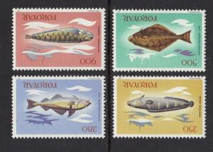 Faroe Islands 1983 MNH fishes  complete