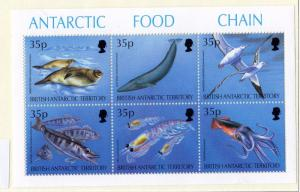 British Antarctic Territory 1994 Food Chain Mini Sheet SG250/255 MNH X6587
