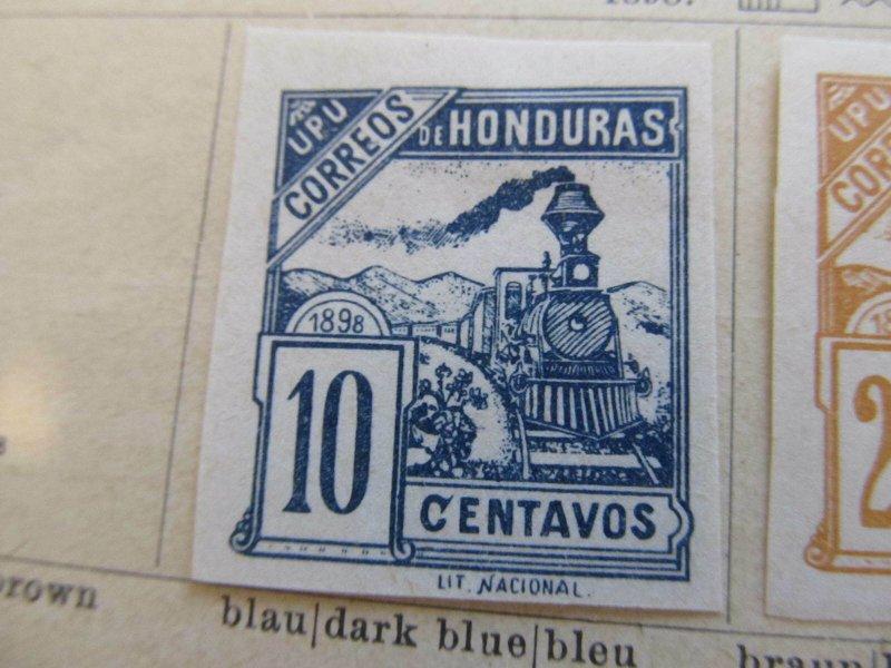 Honduras 1898 10c fine mng stamp A11P12F36