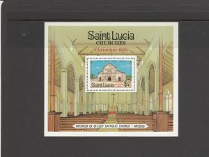 SAINT LUCIA 871 SOUVENIR SHEET MNH 2019 SCOTT CATALOGUE VALUE $3.50