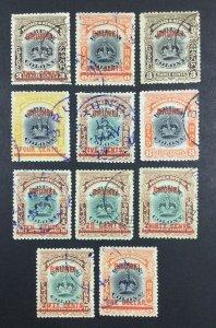 MOMEN: BRUNEI SG #12-22 1906 USED £750 LOT #61907