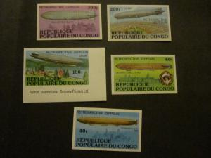 Congo #408-12 Imperf Mint Never Hinged - WDWPhilatelic P 2