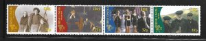 IRELAND, 1031A, MNH, STRIP OF 4, IRISH CINEMA
