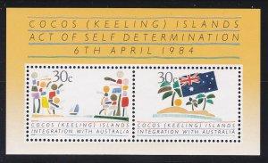 Cocos Islands # 125, Act of Self Declaration, NH, 1/2 Cat.