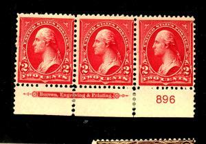 279B MINT Strip of 3 F-VF OG Stamps NH Selvage HR Cat $75