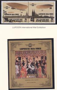 North Korea  2277a-2278 MNH LUPOSTA Stamp EXPO Köln - Airships & Virgin & Child