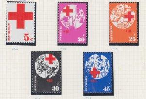 NETHERLANDS, 1972 Red Cross set of 5, mnh.