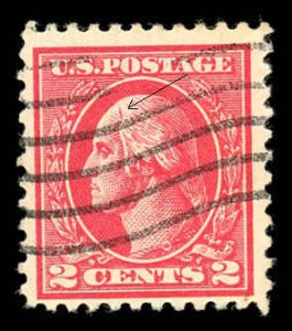 USA 528B Used Plate Scratch Variety