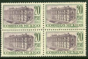 MEXICO 829 $20Pesos Ministry of Communications Blk4 MNH (213