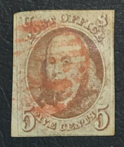 MOMEN: US STAMPS #1 USED LOT #43211