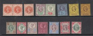 GB # 111-122 VF-MLH/MH Q/VICTORIA JUBILEE ISSUES CAT VALUE $657