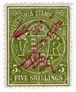 (I.B) Australia - Victoria Revenue : Stamp Duty 5/- (1909)