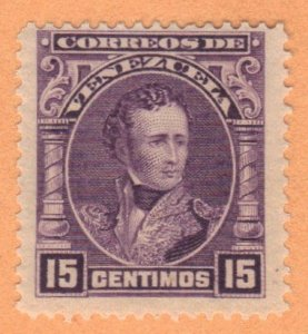 VENEZUELA SC# 233 **USED** 1904-09  15c  SEE SCAN