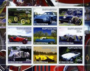 Kyrgyzstan 2000 CLASSIC CARS Sheet (9) Perforated Mint (NH)