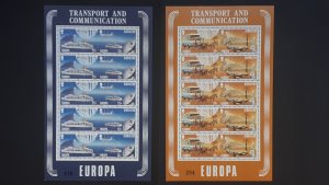 Europa CEPT - Gibraltar 1988. ** MNH 5x complete set in 2 sheets