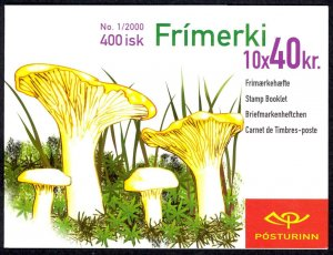 Iceland Sc# 898a MNH Complete Booklet 2000 40k Mushrooms